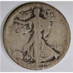 1921-D WALKING LIBERTY HALF DOLLAR, GOOD KEY DATE