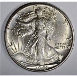 1941-D WALKING LIBERTY HALF DOLLAR, CH BU