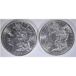 1886 & 1888 CH BU MORGAN DOLLARS