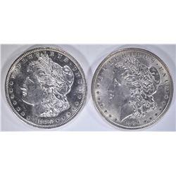 1880-S & 1889 CH BU MORGAN DOLLARS