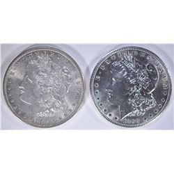 1896 & 1899-O CH BU MORGAN DOLLARS