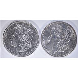 1878-S BU cleaned & 1897 BU+ MORGAN DOLLARS