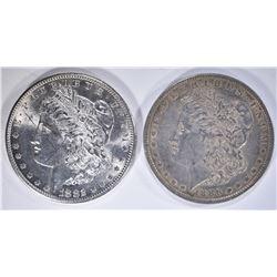 1882-S BU marks & 1886 XF MORGAN DOLLARS