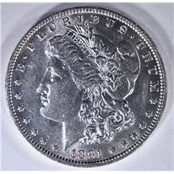 1891 CH BU MORGAN DOLLAR