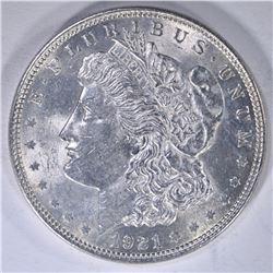 1921 CH BU MORGAN DOLLAR