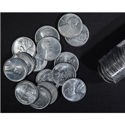 BU ROLL OF 1943 LINCOLN STEEL CENTS