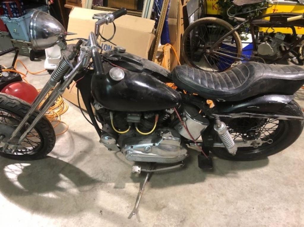 1969 Harley Davidson sold for parts
