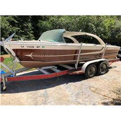 1961 Century Coronado 21' boat and trailer