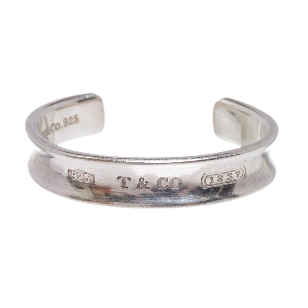 895e09fcf Image 1 : Tiffany & Co. 925 Sterling Silver 1837 Cuff Bracelet ...