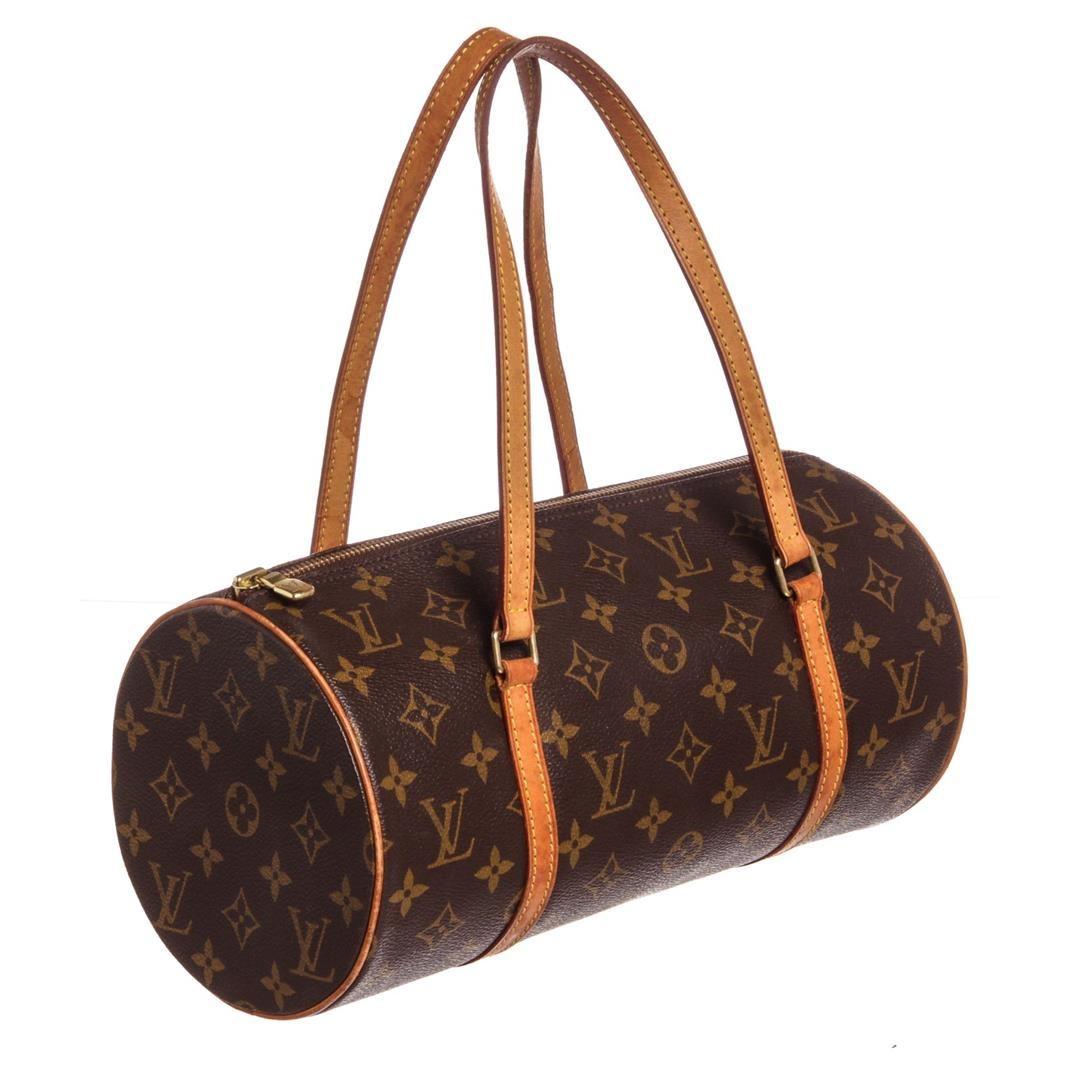 2f87e19fe5c1 ... Image 3   Louis Vuitton Monogram Canvas Leather Papillon 30 cm Shoulder  Bag ...