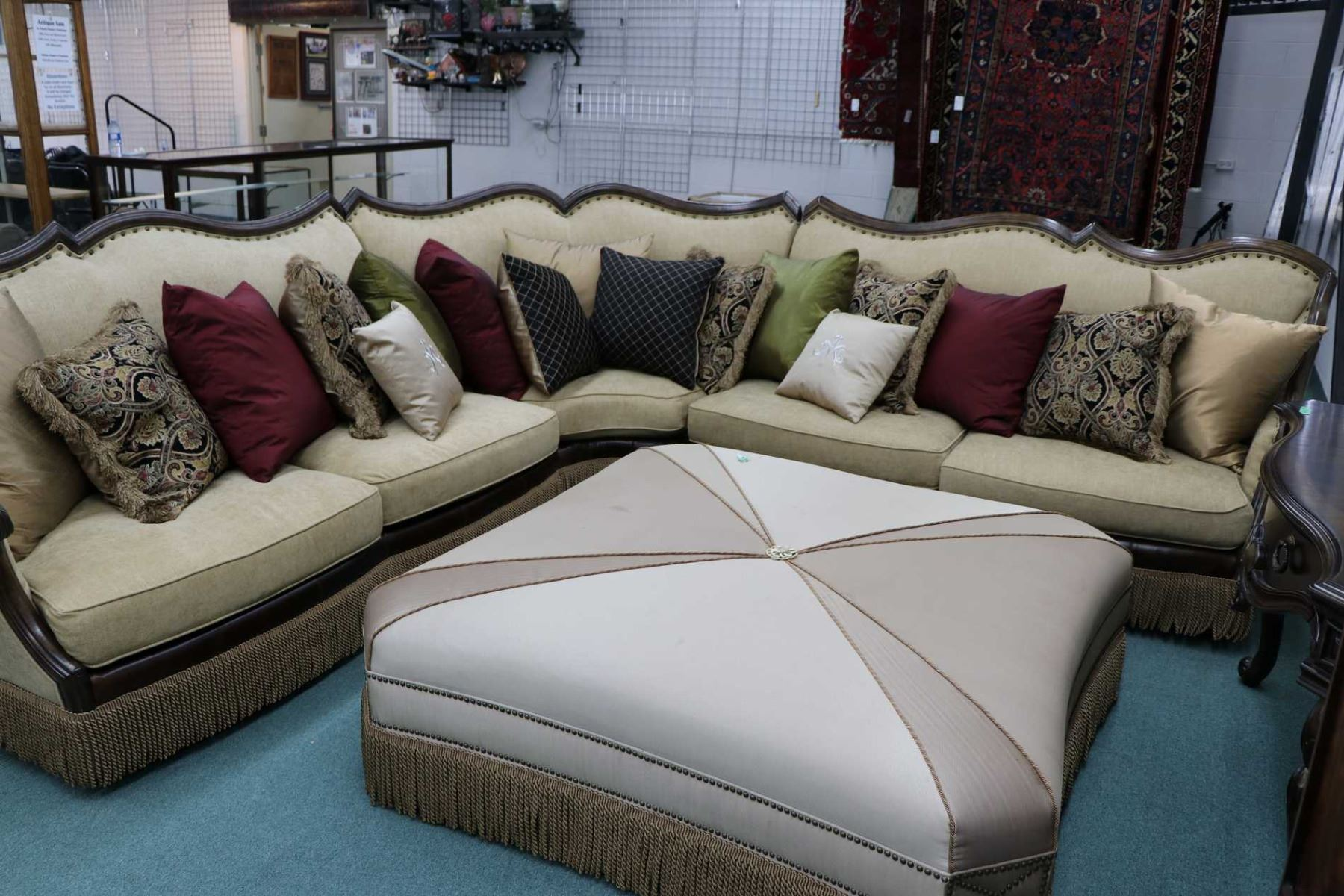 Groovy Large Aico Victorian Palace Sectional Including Right Pdpeps Interior Chair Design Pdpepsorg