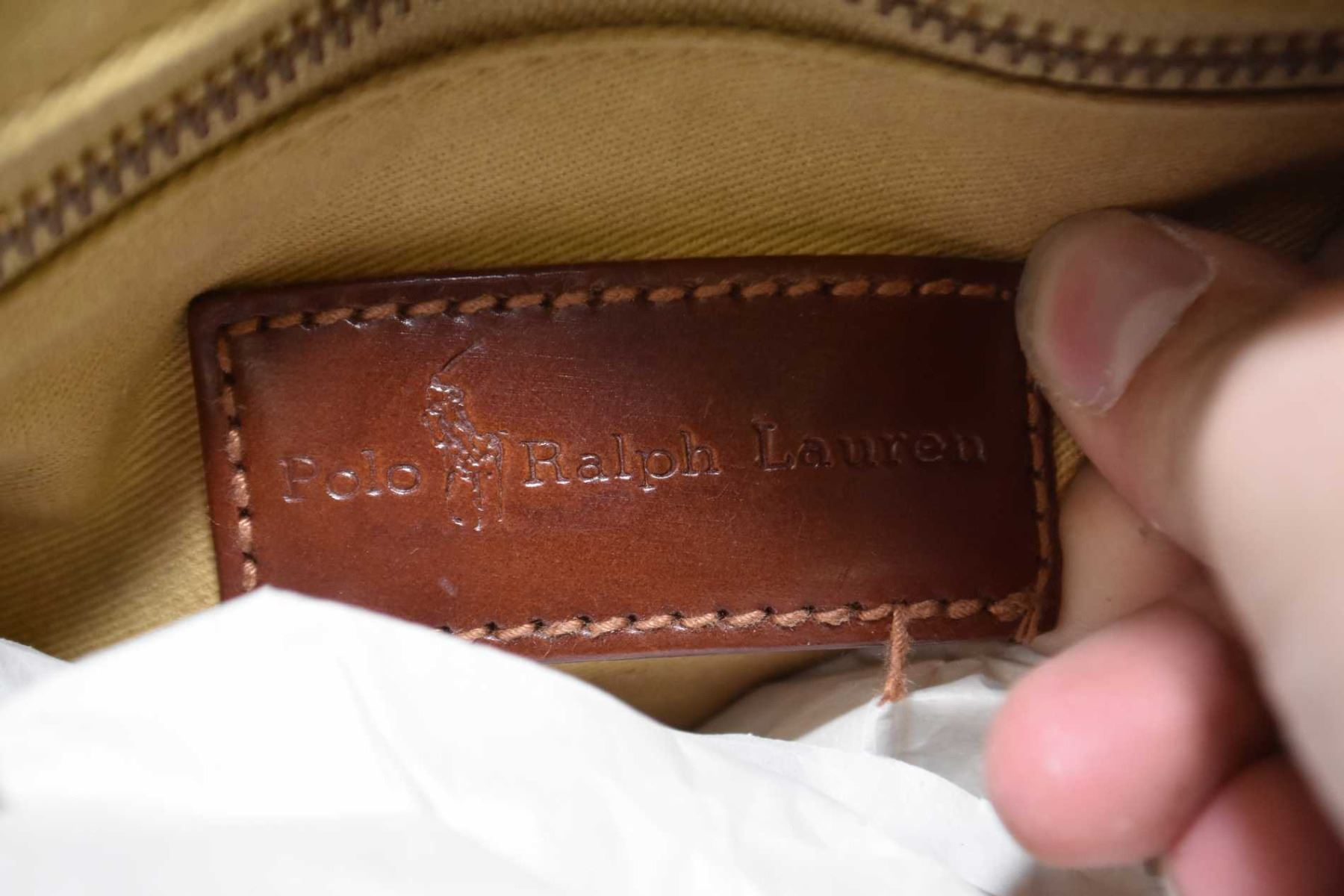 ... Image 3   Two vintage genuine Ralph Lauren bags including a Polo green  plaid Boston bag ... 6993339bf3d90