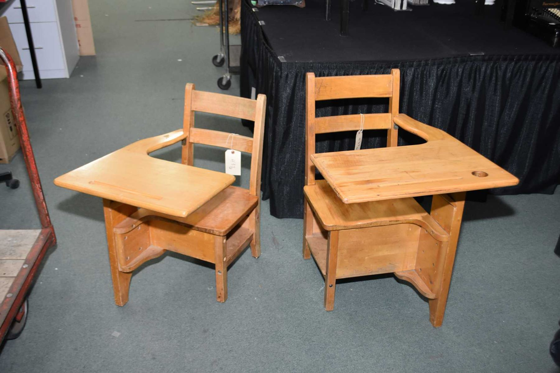 Incredible Two Childrens Maple School Desk Chair Combos One Right Uwap Interior Chair Design Uwaporg