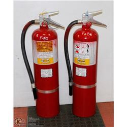 LOT OF 2 LARGE FIRE EXTINGUISHER - NOT CHARGED