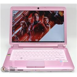 PINK SONY VAIO LAPTOP W/ WIN 7/ MS OFFICE