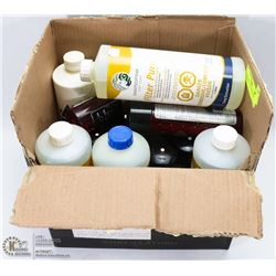 BOX OF HOT TUB CLEANERS & SCENTS