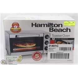 NEW HAMILTON BEACH 4 SLICE TOASTER OVEN