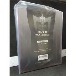 New 8 1/2 x 11 Top-Loader Rigid Plastic high quality plastic sleeves