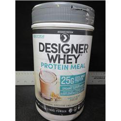 New Factory Sealed Designer Whey Protein Meal / shake 1.72lb Vanilla Bean