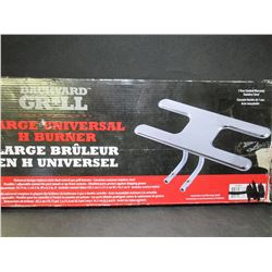 New Backyard Grill Stainless Universal H Burner / Large