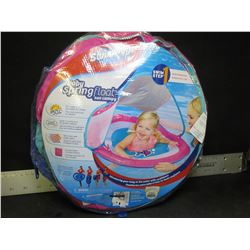 New Swimways Baby Float with sun canopy