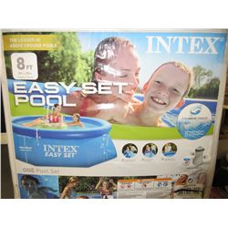Intex Easy Set Above Ground Pool 8 foot with Pump and Hoses / Untested