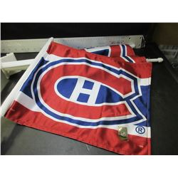Lot of 3 New NHL Montreal Canadians Car Flags