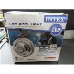 New Intex Pool Light / hydroelectric power so no Batteries
