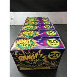6 New Packs of BANG POPS 50 per pack / drop em or throw em BANG!