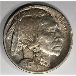 1913-S TYPE-1 BUFFALO NICKEL, CH AU