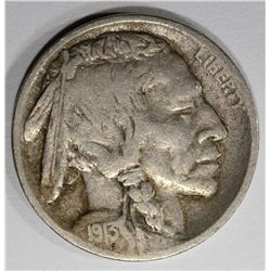 1913-D TYPE-1 BUFFALO NICKEL, VF