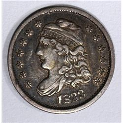 1833 CAPPED BUST HALF DIME, XF