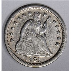 1841-O SEATED HALF DIME, VF