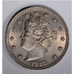 1910 LIBERTY NICKEL, CH BU