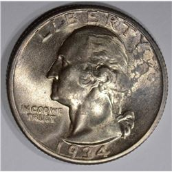 1934 WASHINGTON QUARTER, CH BU