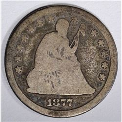 1877-CC SEATED QUARTER, VG