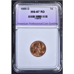 1955-D LINCOLN CENT APCG SUPERB GEM