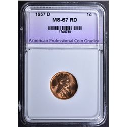 1957-D LINCOLN CENT APCG SUPERB GEM