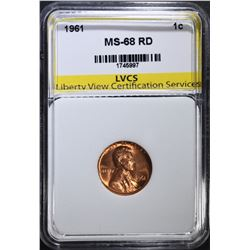 1961 LINCOLN CENT LVCS SUPERB GEM+