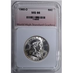 1960-D FRANKLIN HALF DOLLAR WHSG