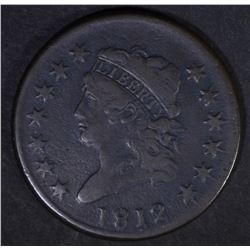 1812 CLASSIC HEAD LARGE CENT  VF
