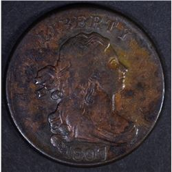 1807 DRAPED BUST HALF CENT  AU