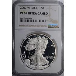 2007 W AMERICAN SILVER EAGLE DOLLAR