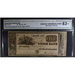 1861 $5 - OBSOLETE BANKNOTE