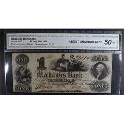 1852 $1 OBSOLETE BANKNOTE