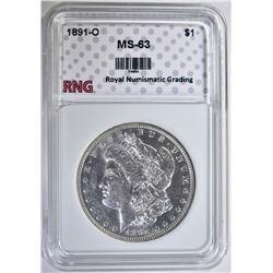 1891-O MORGAN DOLLAR RNG CH BU