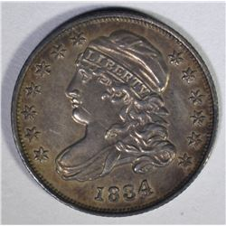 1834 CAPPED BUST DIME  AU/BU