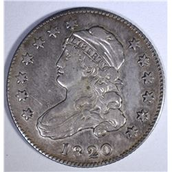1820 CAPPED BUST QUARTER  XF+