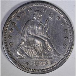 1873 ARROWS SEATED QUARTER  AU/BU