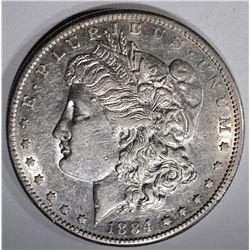 1884-S MORGAN DOLLAR, AU+
